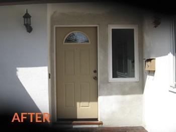 After - Front Door Stucco Repair Jacksonville FL